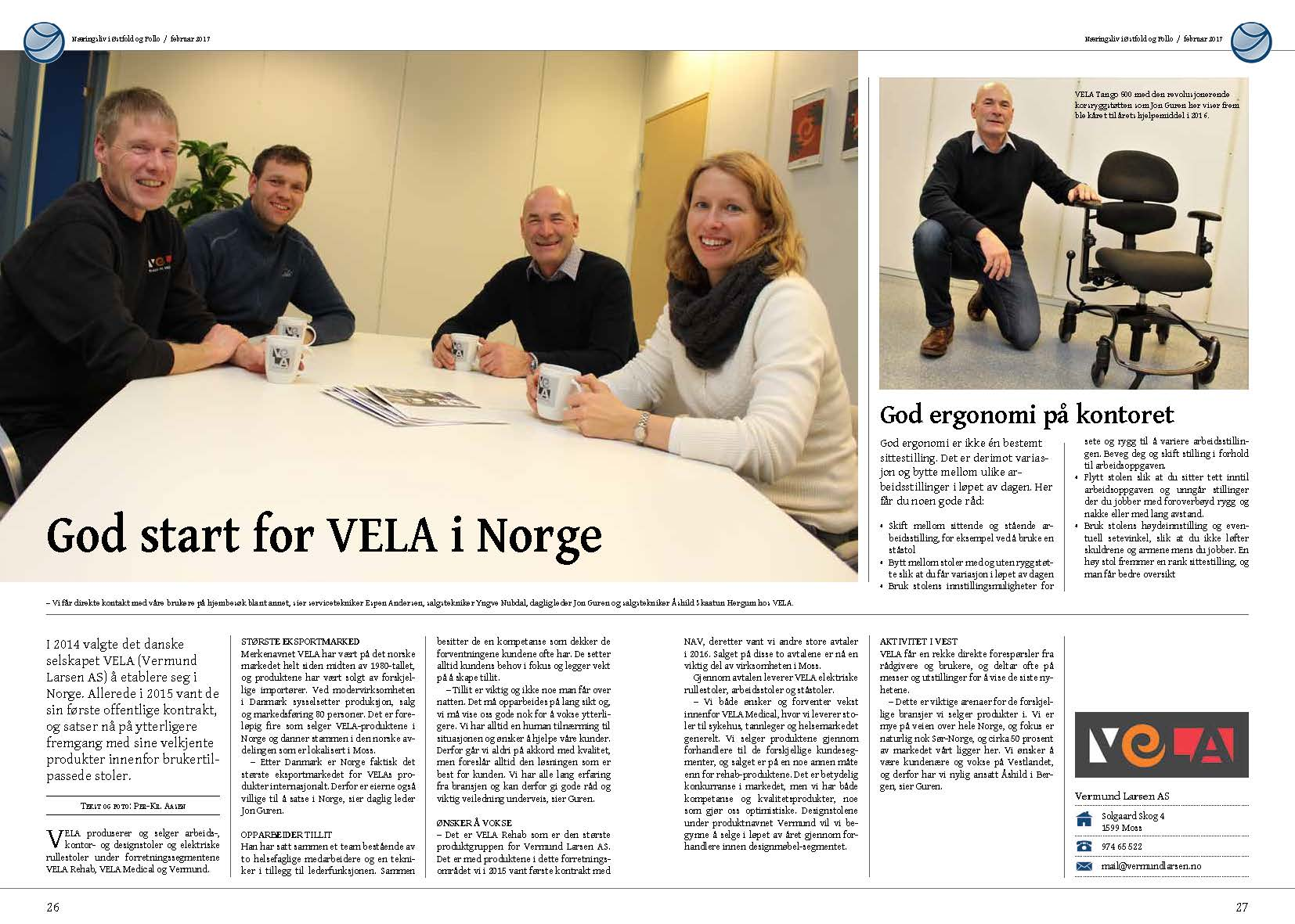 God start for VELA i Norge artikel